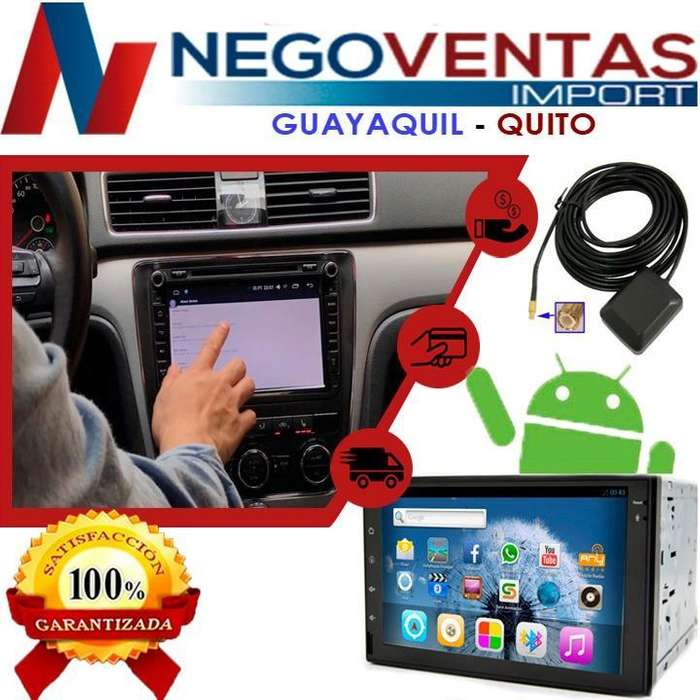 RADIO PARA CARRO DOBLE DIN ANDROID USB SD AUX CD DVD BT FM <strong>gps</strong> CON PANTALLA FULL TOUCH 7 PULGADAS