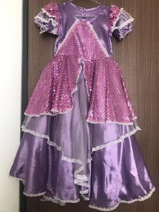 Disfraz: Vestido princesa color Lila Niña
