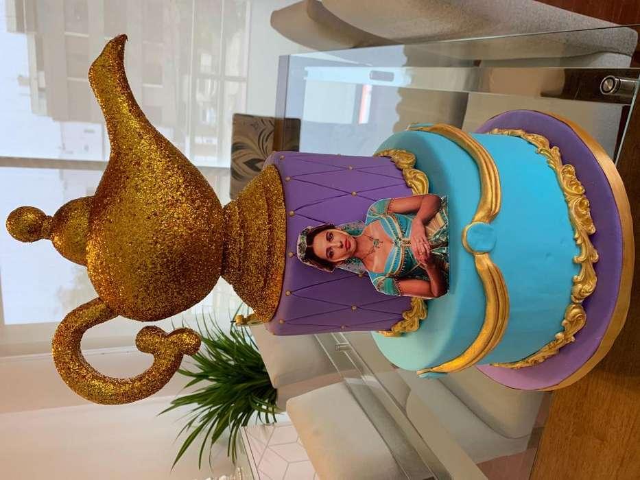 Maqueta Torta de Jasmine Aladin