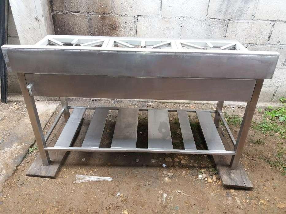 Cosina Industrial 0996823636 3 Hornillas