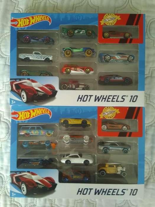 Hotwheels Set de 10 Cada Uno X2 Nuevitos