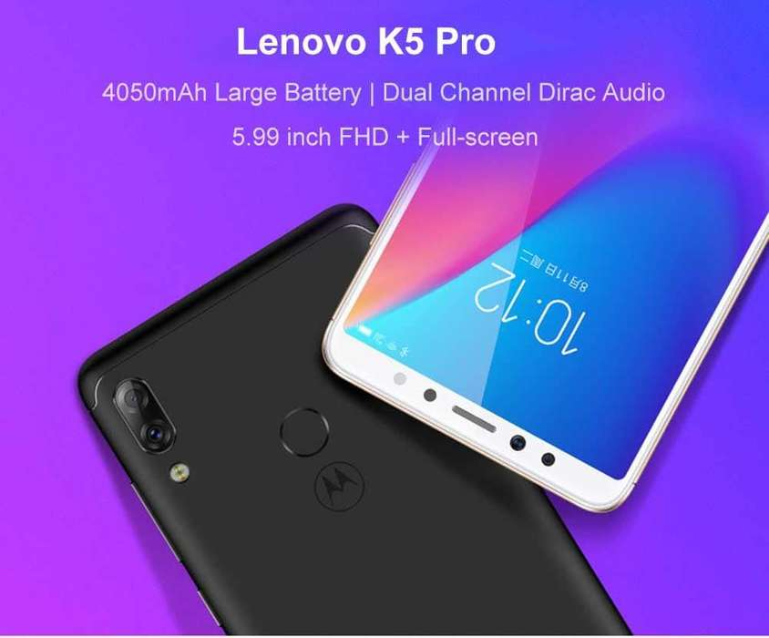 nuevo original LENOVO K5 PRO 4GB RAM 64GB ROM camara dual de 16mp 5mp 4G LTE bitel y claro