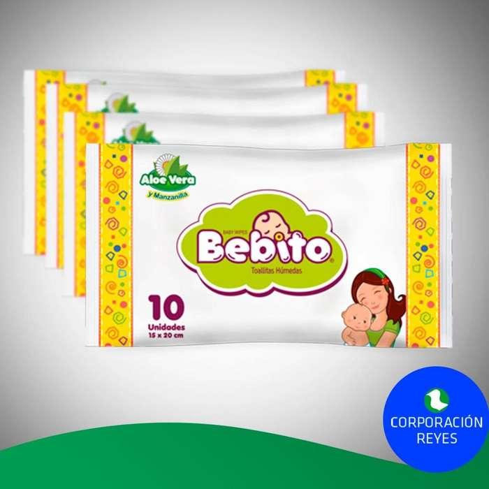 Paño Húmedo Bebito Pack X10 Unds. - (Caja X120 Packs)