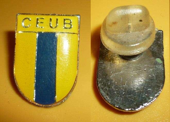 Raro Pin Distintivo Futbol Club CEUB Brasilia 1980s Brasil