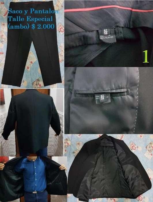 <strong>traje</strong> Saco Pantalon Ambo Negro Camisa Talle Especial Hombre