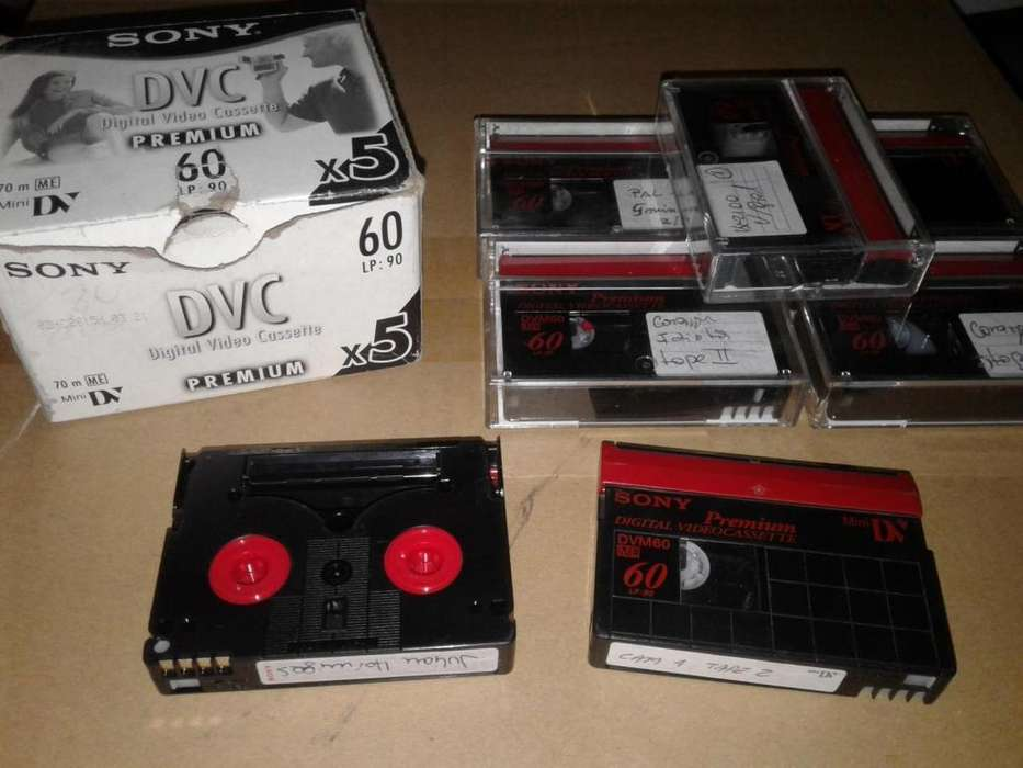 cassettes mini dv sony usados