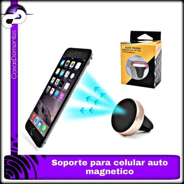 SOPORTE AUTO MAGNÉTICO IMÁN AIRE CELULAR GPS IPOD IPHONE