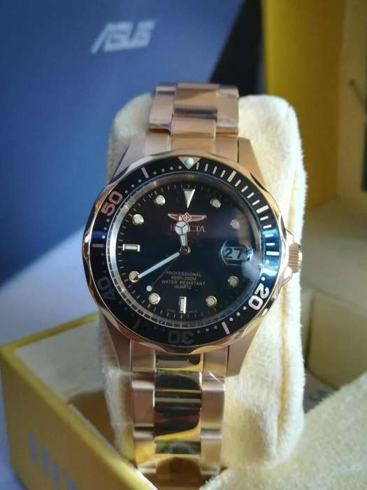 Reloj Invicta Pro Diver oro, dorado, elegante, casual. Relojes hombre Citizen Fossil Casio <strong>rolex</strong>.