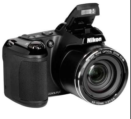 Cámara <strong>digital</strong> Nikon Coolpix L840 estuche cargador SD8gb 4 baterías recargables