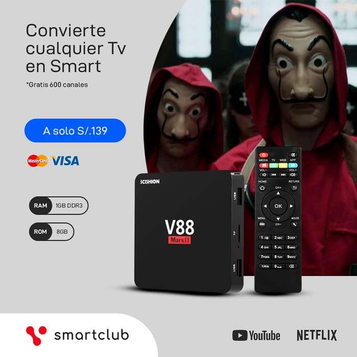 Tv Box Convierte Tu Tv en Smart Tv