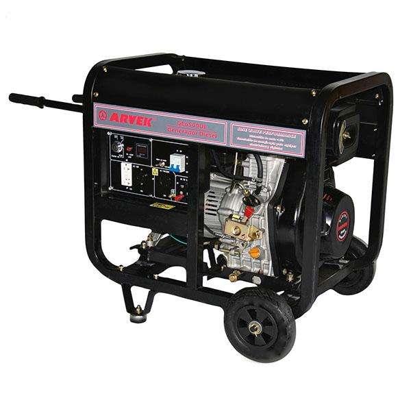 Generador Eléctrico a diésel Abierto 5 kW Arvek