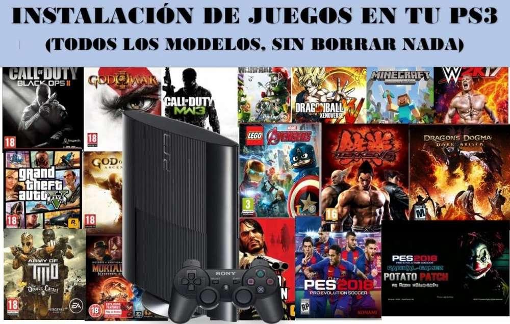 INSTALACION DE JUEGOS PS3 Y PS4
