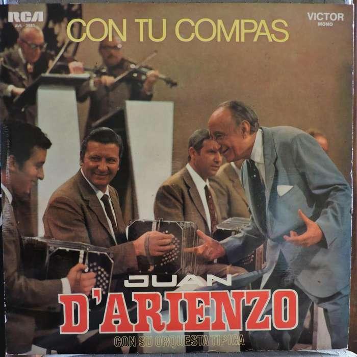 Juan D'arienzo - Con tu compas -disco tango vinilo Lp long play-