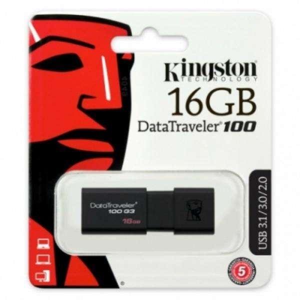 PEN DRIVE 16 GB. KINGSTON DT100 CON USB UNIVERSAL DE ULTRA ALTA VELOCIDAD: 3.1/3.0/2.0 E INFERIORES