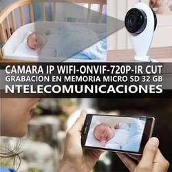 CAMARA IP WIFI P2P ONVIF SLOT MEMORIA MICROSD 64GB