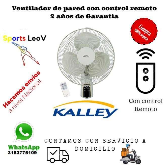 Ventilador con control remoto de pared nuevos 2 años de garantia
