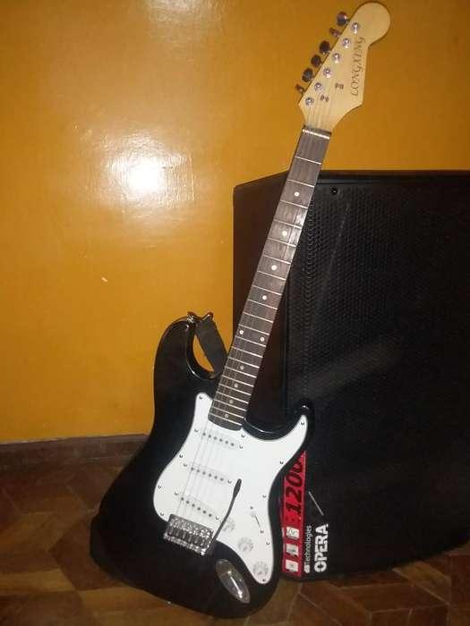 <strong>guitarra</strong> Eléctrica 8 Cuerdas con Estuche
