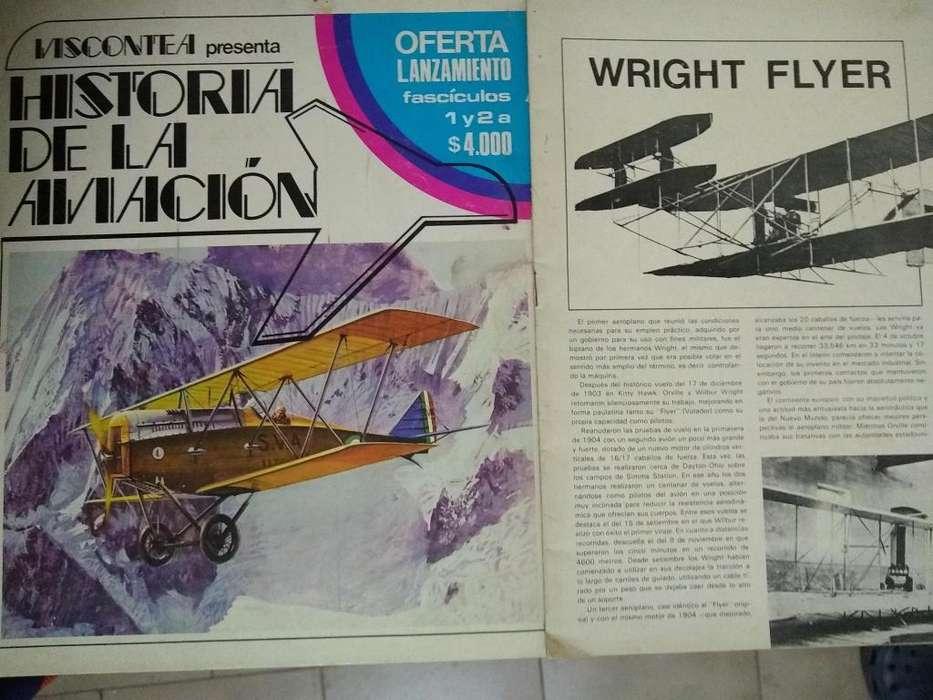 Historia De La Aviacion Viscontea Fasciculo Nro 1wright flyer