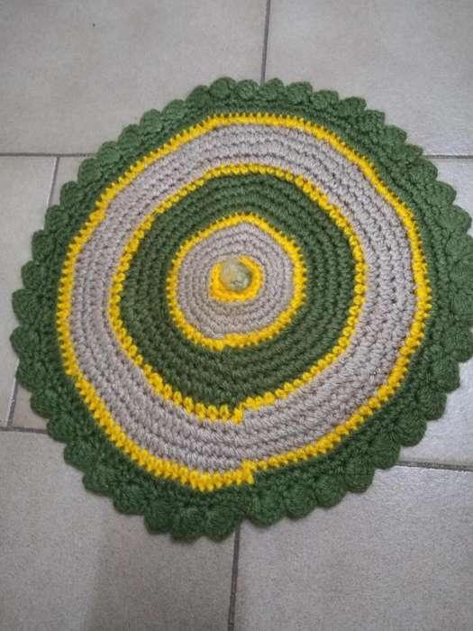 Posa Fuente Crochet Cocina Decoración 30cm perfecta