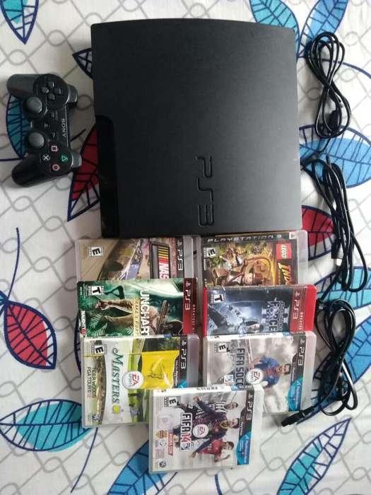 Playstation 3/150 Gb/1 Control/8 Juegos