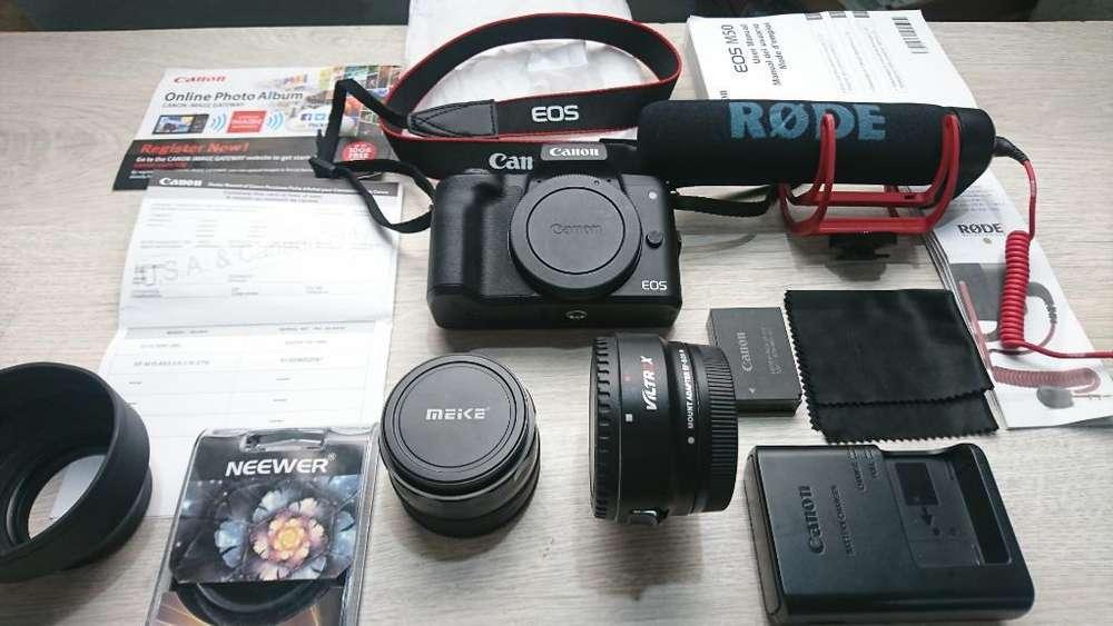 Nuevo Canon M50 4k con Micrófono Rode