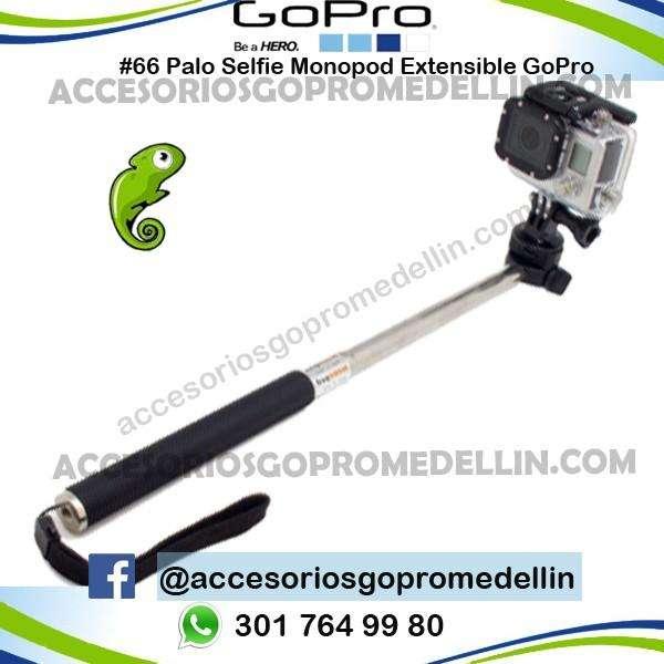 Palo selfie monopod Para Cámaras de Acción GoPro