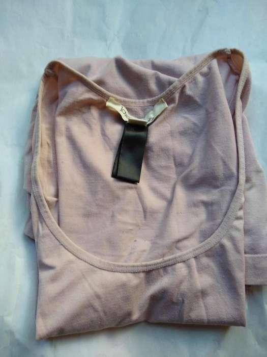 remera camiseta love 21 maternity ML licra tubular borde elastizado