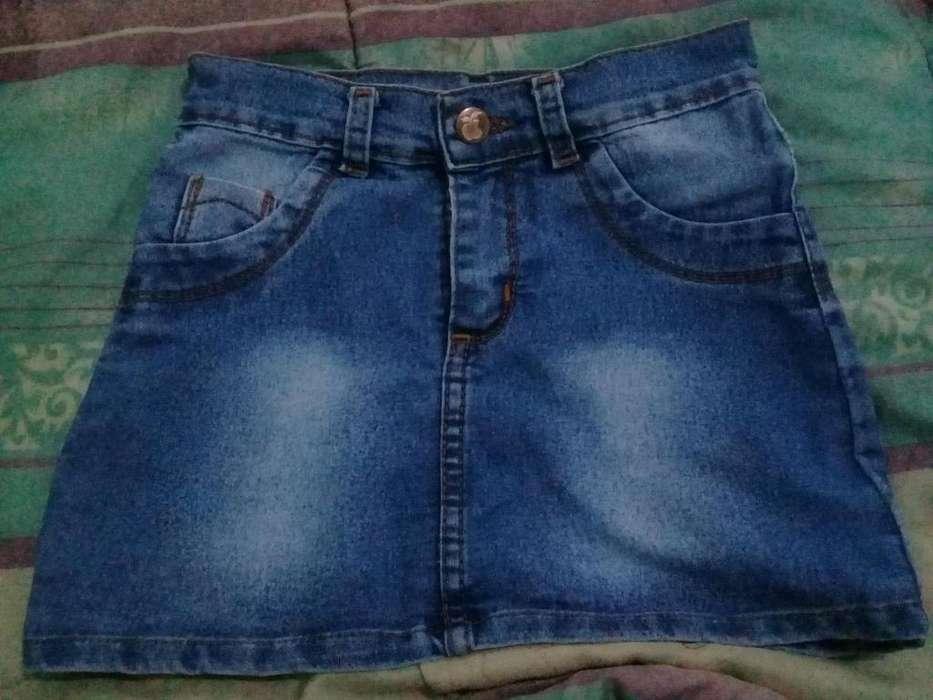 Pollera de jeans talle 10 usada