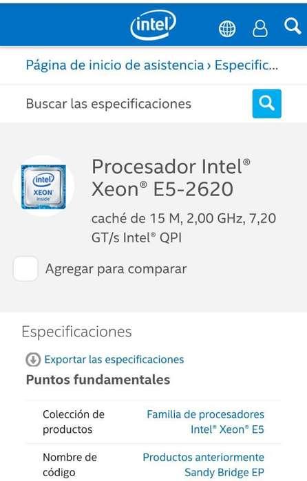 Procesador Intel Xeon E52620