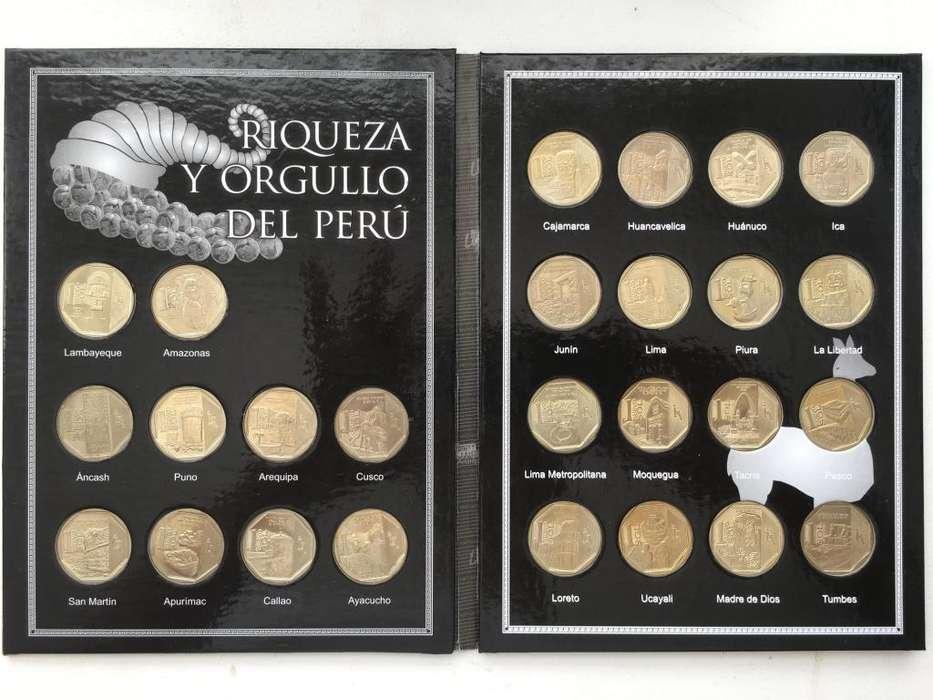 Album Riqueza Y Orgullo Coleccion Completa 26 Monedas Brillantes JMG