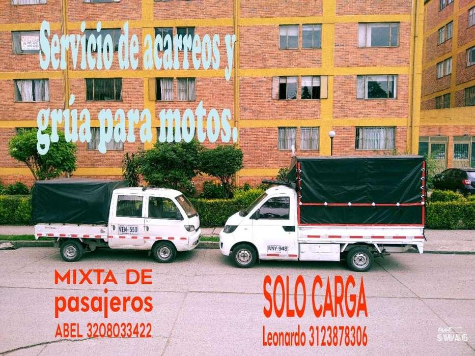Servicio de Acarreos Y Grúa para Motos.
