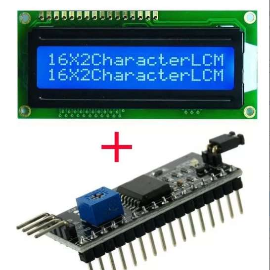 Pantalla Lcd Azul 16x2 Con Modulo I2c Para Arduino Pic Raspberry