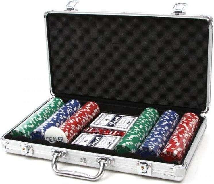 300 Ct. Poker Fichas 11,5 G En Caja De Aluminio