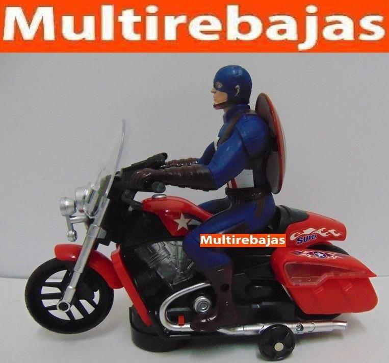 Moto Con Luces Led Y Sonido Capitán América
