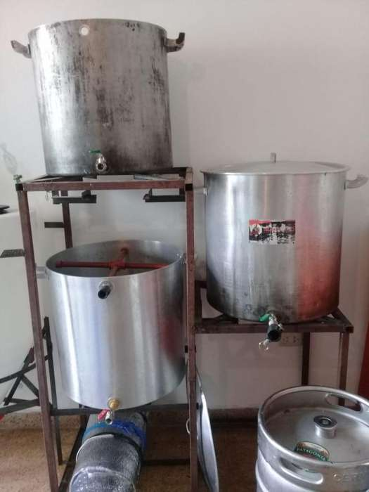 Equipo de cerveza artesanal 100L aluminio - Coccion -