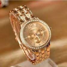 Reloj Geneva Metalico con brillantes