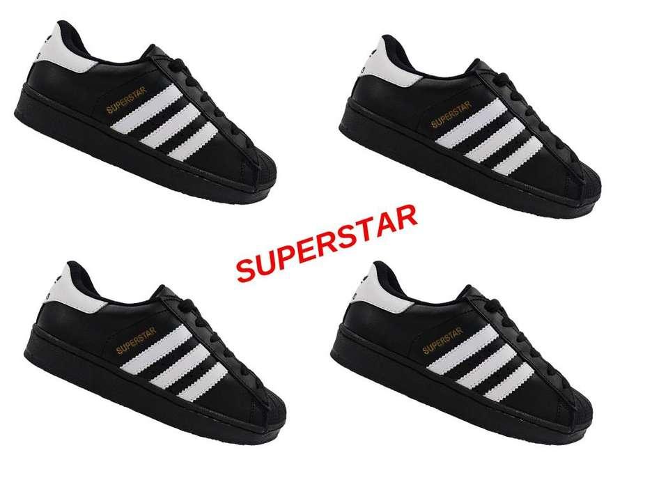 Tenis Zapatillas Superstar Negro Blanco Unisex ContraEntrega GRATIS