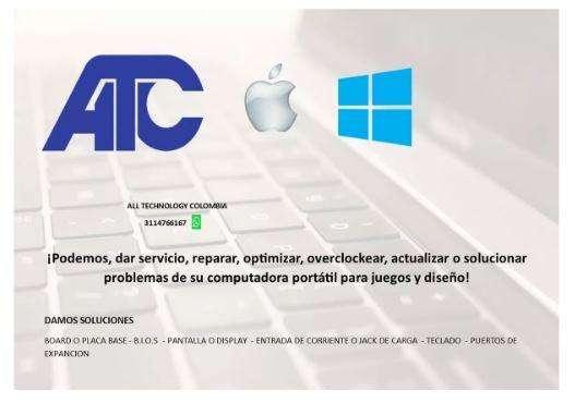 Reparación Computadores,mantenimiento,video Partes Reballing. Llama ya al 3156852745!!!