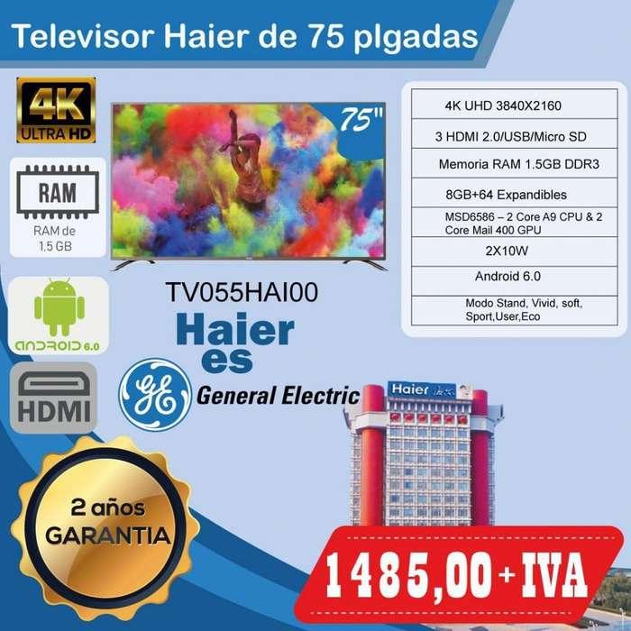 TELEVISORES HAIER 55PLG- 65PLG- 75PLG SMART 4K UHD PRECIOS ESPECIALES-SMART QUITO