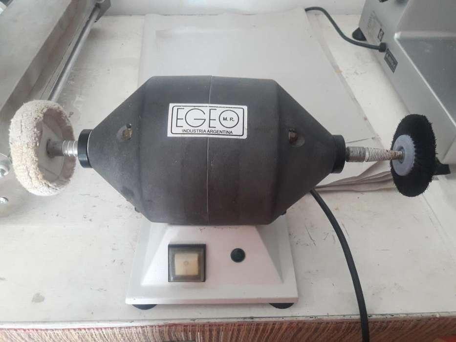 Pulidora de mesa EGEO 3 Accesorios. Practicamente Nueva. Oferton!!!