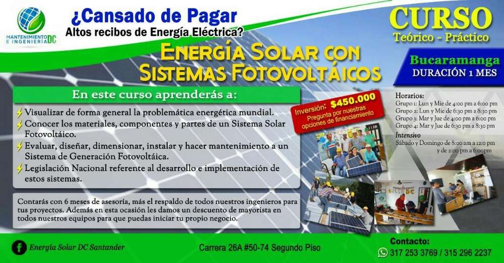 Curso Energia Solar Bucaramanga