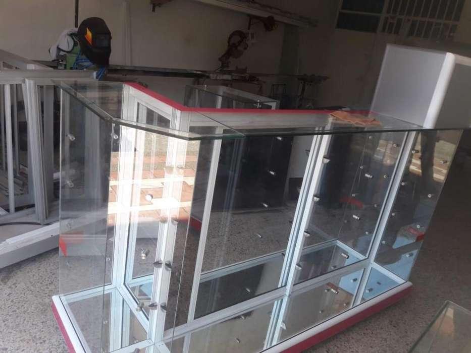 Fabricamos Vitrinas en Aluminio Super Ec