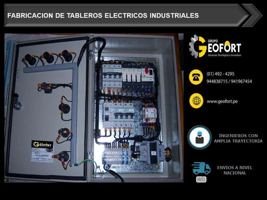 Fabricacion de tableros electricos Industriales - Certificado de Garantia Telf(01)4924295