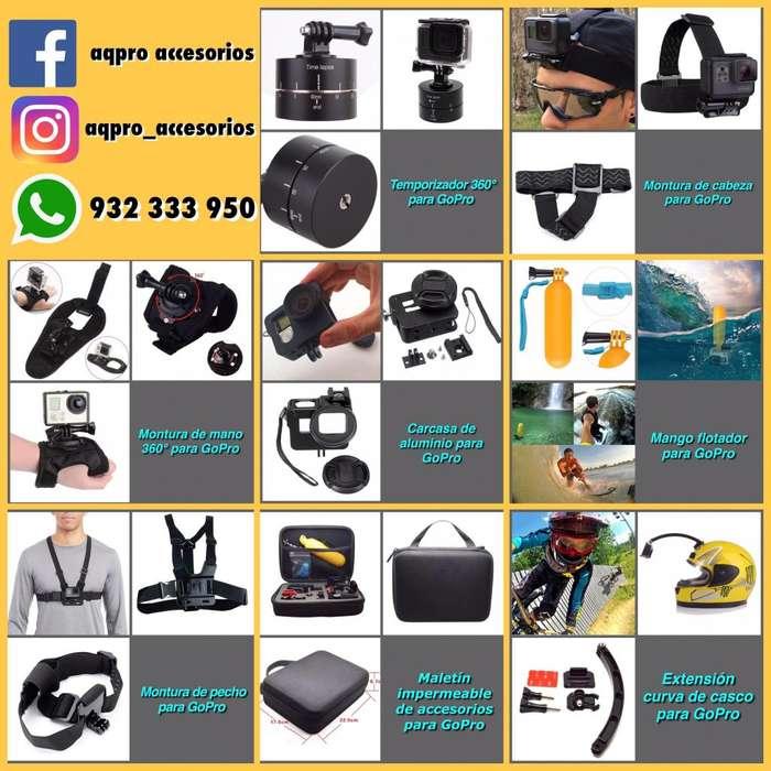 Accesorios para GoPro o cualquier cámara de acción!