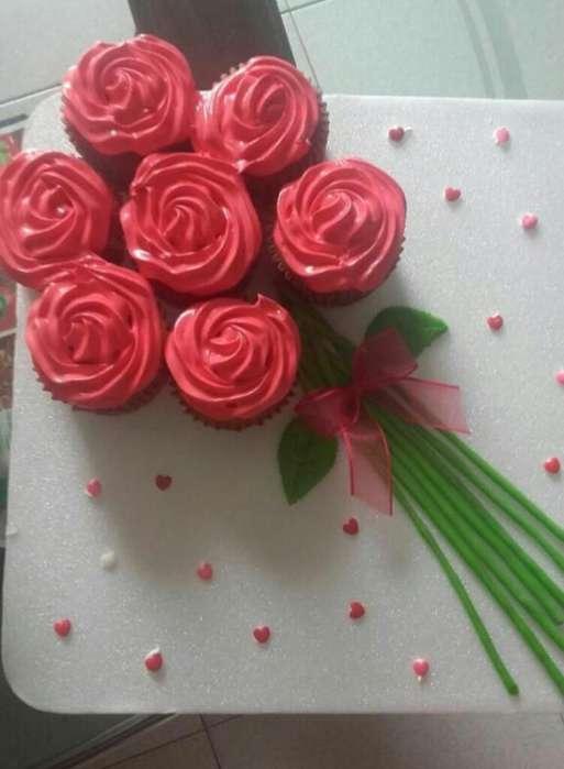 Arreglos de Rosas Cupcakes