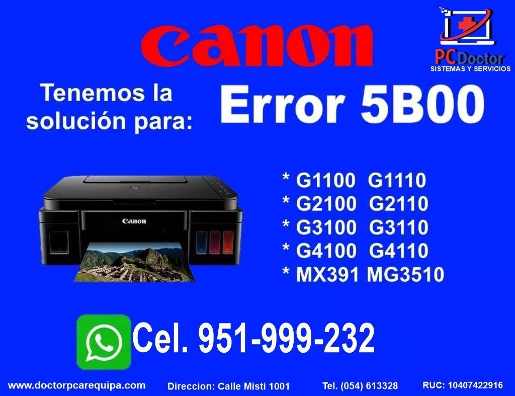 RESET PARA CANON  ERROR  5b00