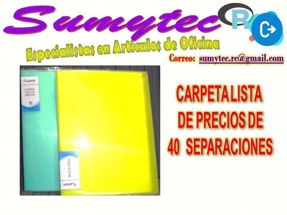 CARPETA LISTA DE PRECIOS