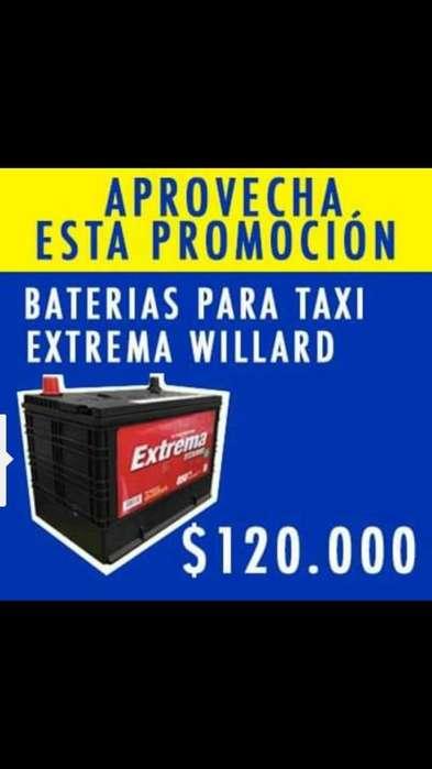 Baterias para Taxis y Automoviles pequeños en promoción.
