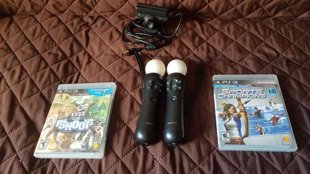 Combo ps3 move 2 juegos y cámara