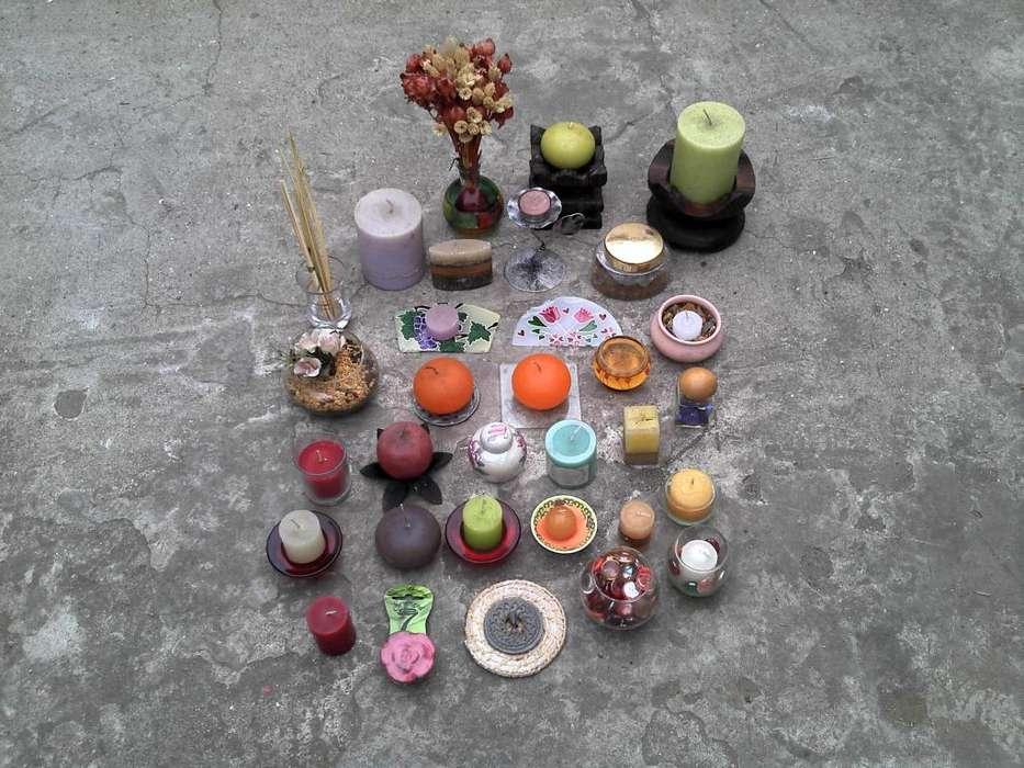 <strong>vela</strong>s aromaticas / palitos aromatizantes / adornos del hogar